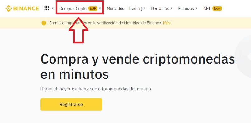 Comprar bitcoins en Binance